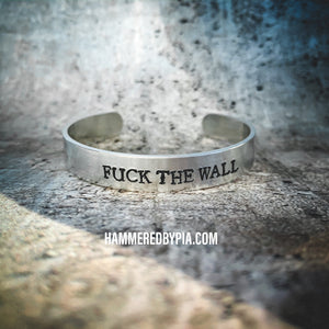 FUCK THE WALL charitable bracelet
