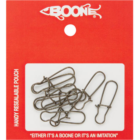 Boone Black Duo-Lock Snaps - Fishing Supercenter