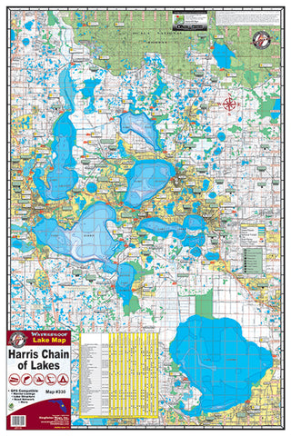 Not specified Waterproof Lake Map - Fishing Supercenter