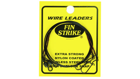 Fin Strike Wire Leaders Extra Strong Blk SS Wire w/Duolock Snap