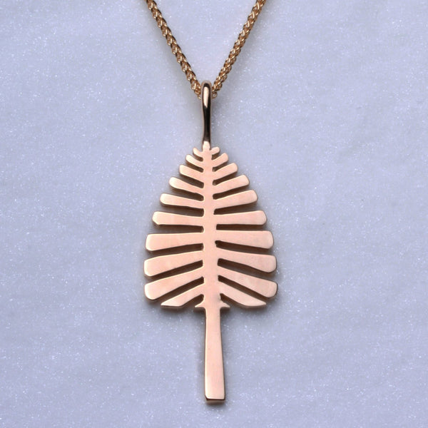 """Lone Pine"" Pendant (Available small in 14ky and rose gold, large in Sterling Silver, 18ky gold, 14kw & y gold, others made to order)"