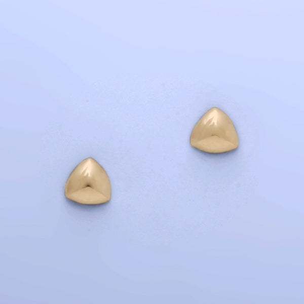 """Curved Shield"" Post Earrings (Available in 14kw; others made to order)"