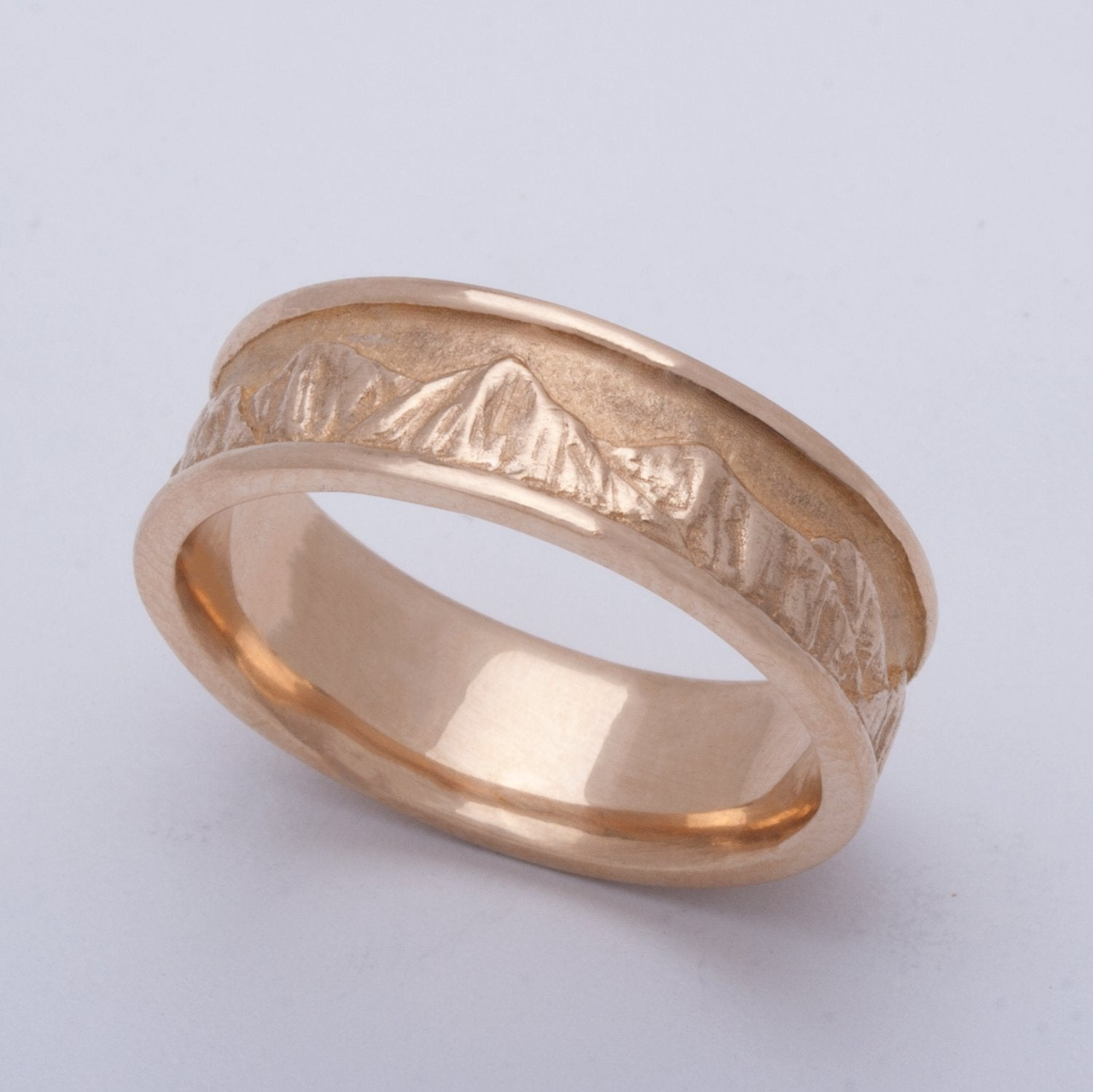 Mountaineer Ring in 14 Karat Yellow Gold