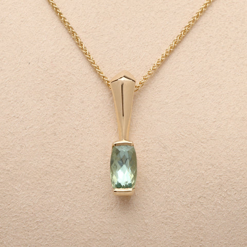 """Arrow"" Limited Edition Pendant with Maine Tourmaline (Available in 14ky gold, others made to order)"