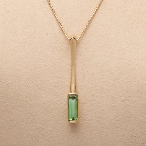 """Bar"" Pendant with Tourmaline"
