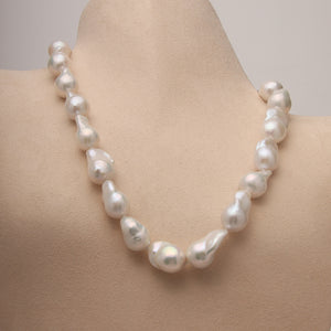 Baroque Fresh Water Pearl Necklace with 14ky lobster clasp (Available)