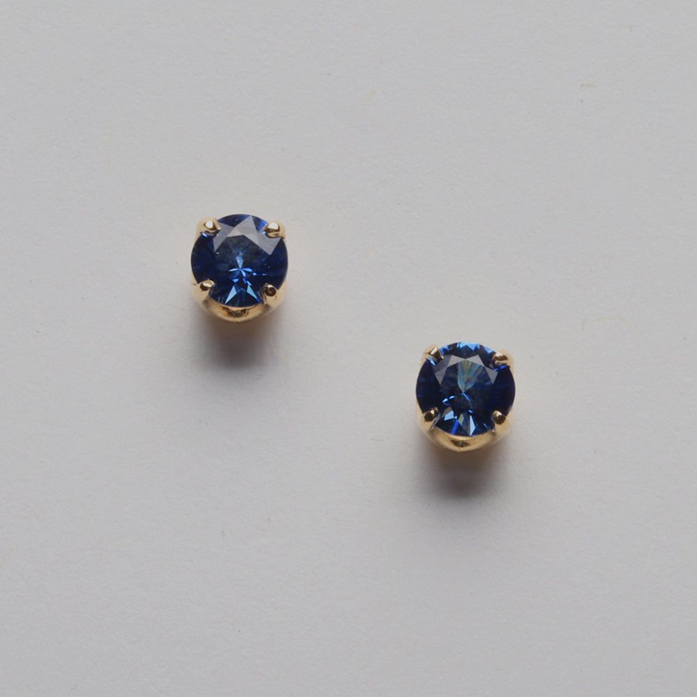 Ceylon Blue Sapphire Studs (Available in 14ky, others made to order)