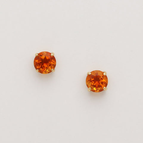 Citrine Studs (Available in 14ky, others made to order)