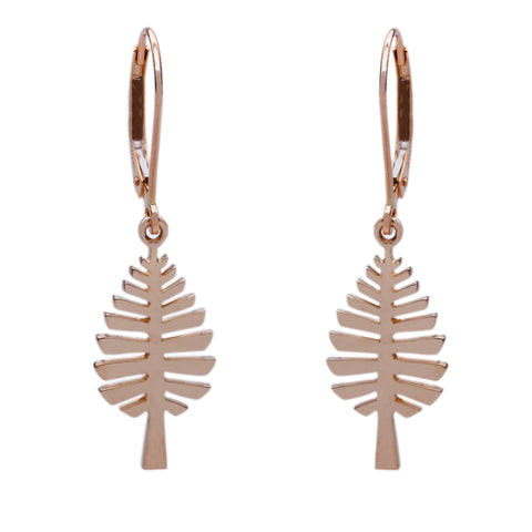 """D Pine"" Leverback Earrings"