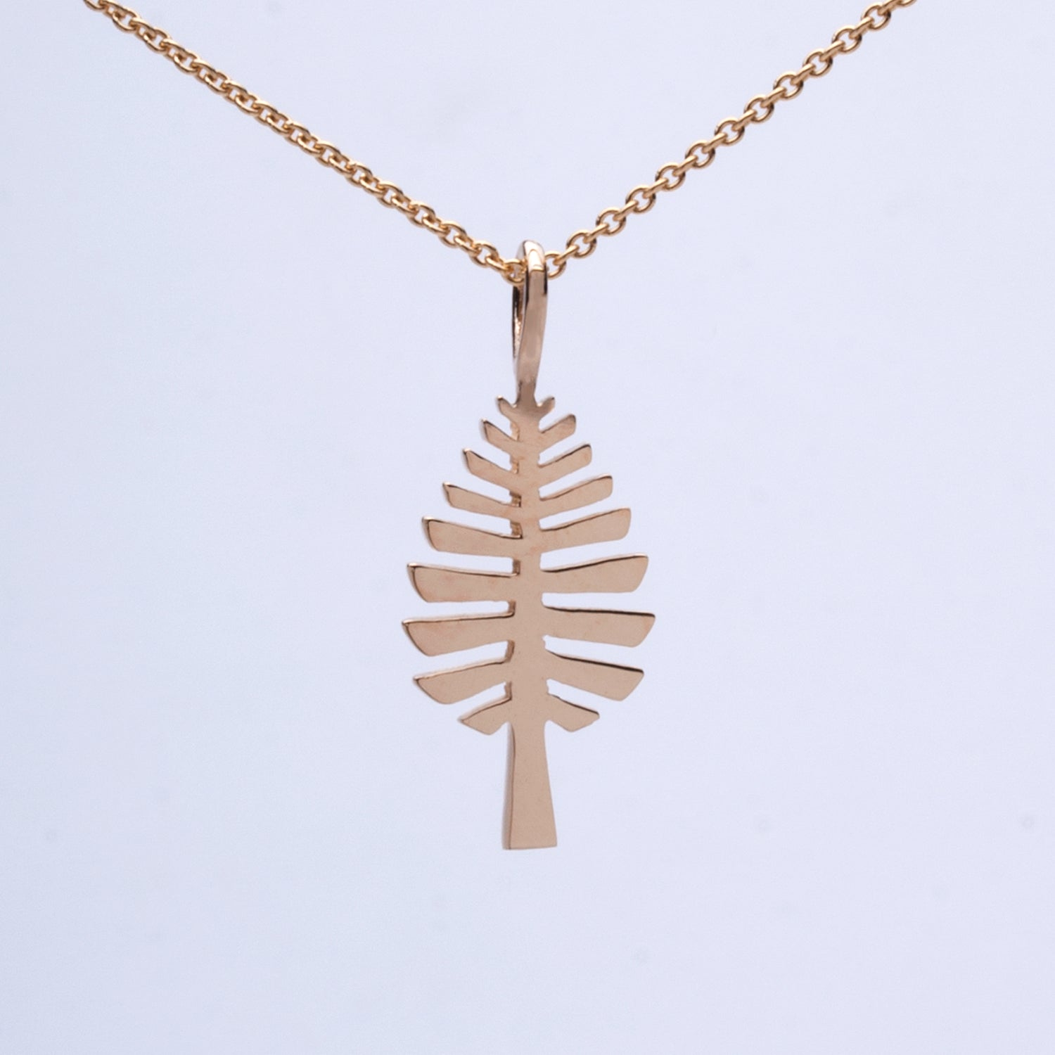 """D Pine"" Pendant (Available in Sterling Silver, 14ky & w gold; others made to order). Chains sold separately."