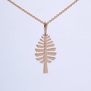 """D Pine"" Pendant (Available in Sterling Silver, 14ky & w gold; others made to order)"