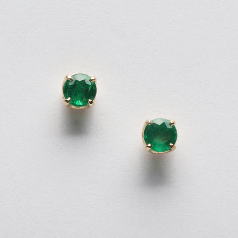 Emerald Studs (Available in 14ky, others made to order)