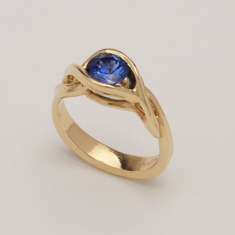"""Equinox"" Limited Edition Ring (Available in 14K yellow gold with Blue Sapphire)"