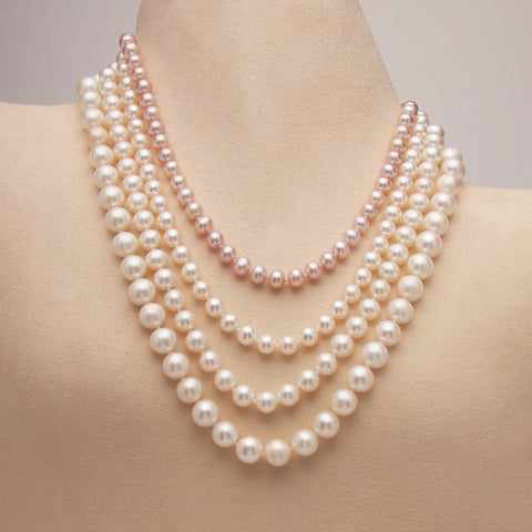Strands of Fresh Water Pearls (4 Necklaces Available, others made to order)