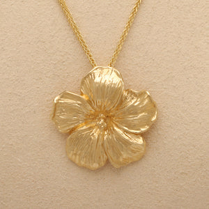 """Hibiscus"" Limited Edition Pendant (Available in 14ky gold, others made to order)"