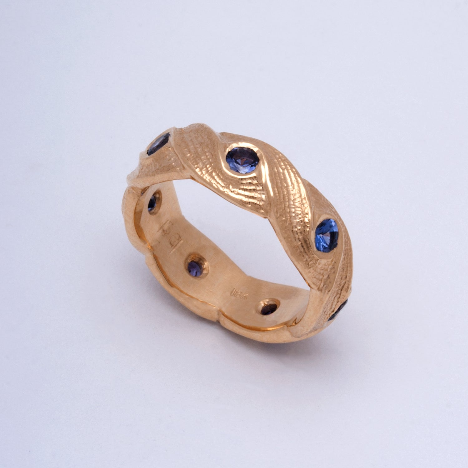 """Journey"" Limited Edition Ring (Available in 18ky gold with Purple Sapphires)"