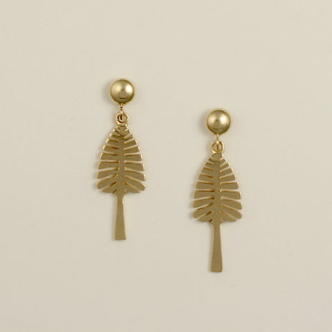 """Lone Pine"" Ball Post Earrings (Sold. Made to Order)"