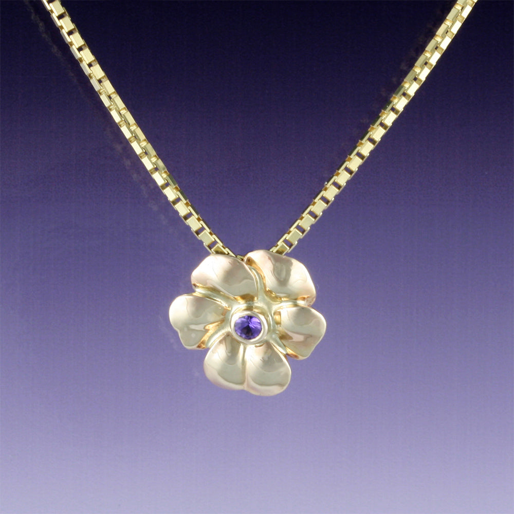 """Pansy"" Limited Edition Pendant (Available without center stone; others made to order)"
