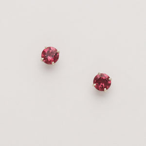 Rhodolite Garnet Stud Earrings (Available in 14kw, others made to order)