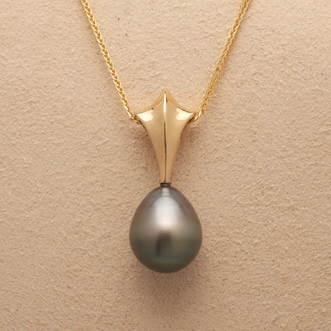 """Star"" Limited Edition Pendant (Available in 14ky gold with Black Natural Color Tahitian Pearl)"