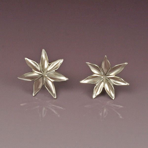 """Starflower"" Stud Earrings (Available in 14kw & y; others made to order)"