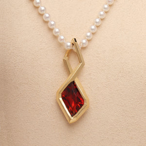 Oregon Sunstone One-of-a-Kind Pendant (Available in 18ky gold)