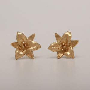Trillium Small Stud Earrings, a new design (Available in 14ky, others made to order)