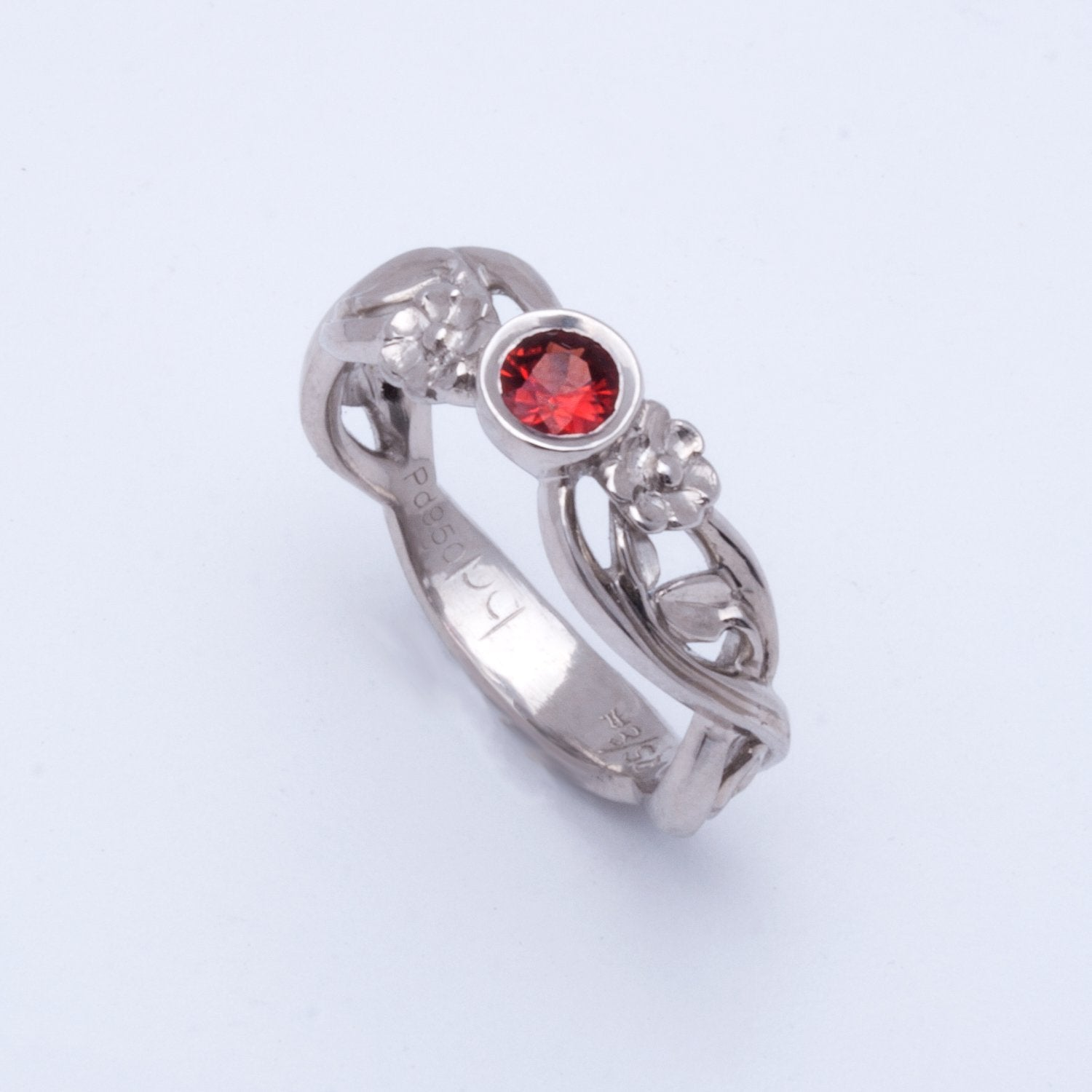 """Victoria"" Limited Edition Ring (Available in palladium with Red Sapphire)"