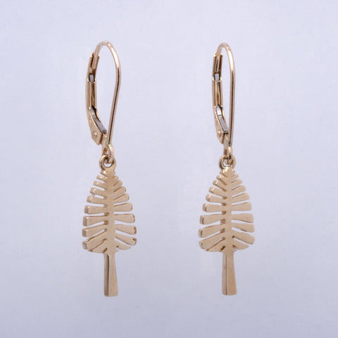 """Lone Pine"" Lever Back Earrings"
