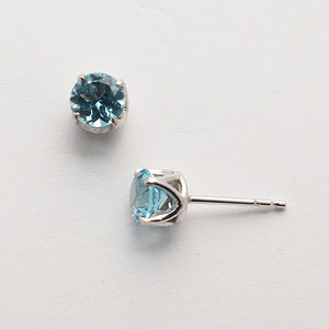 Blue Topaz Studs (Available in 14kw, others made to order)