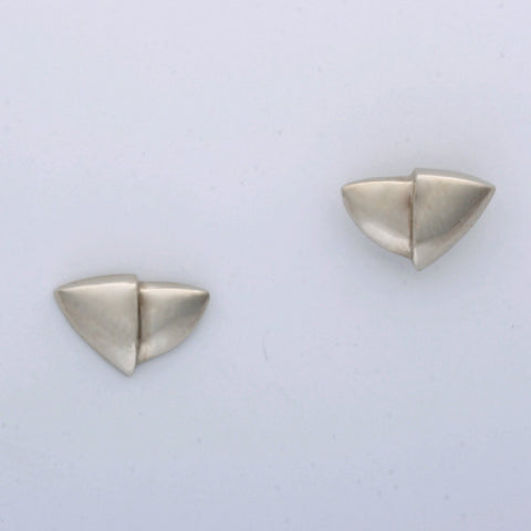 """2 Half Shields"" Post Earrings"