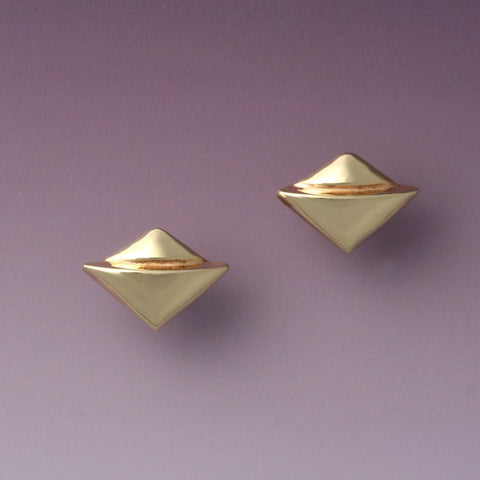"""Double Triangle"" Post Earrings"