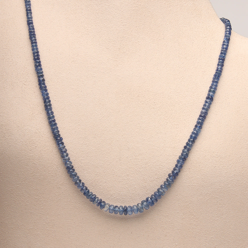 Blue Kayanite Necklace (Sold. Similar necklaces made to order. Prices may vary.)