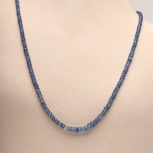 Blue Kayanite Necklace (Sold. Similar necklaces made to order)
