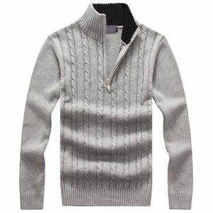 Cable Knit Sweater - Slim Fit