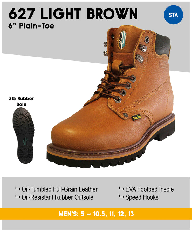 Cactus 627 Light Brown Soft Toe Work Boot