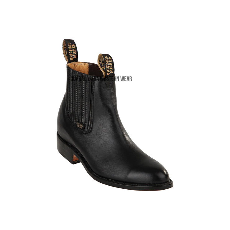 Original Michel Charro Black Deer Leather Boots