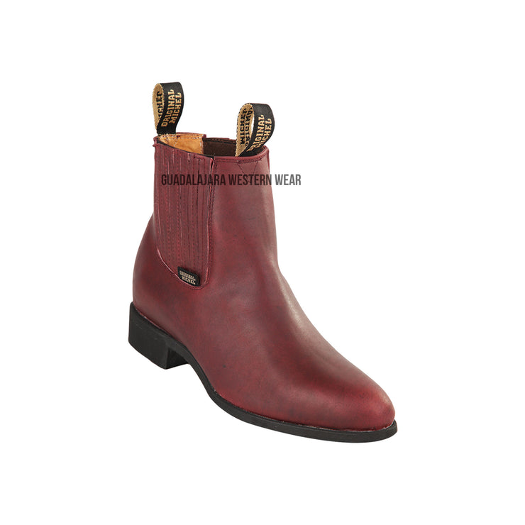 Original Michel Charro Burgundy Grasso Leather Boots