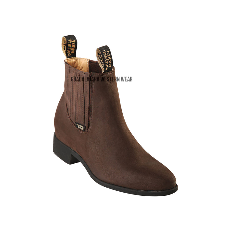 Original Michel Charro Tobacco Suede Leather Boots