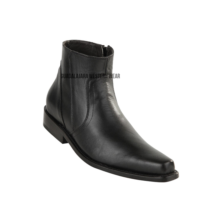 Original Michel Black Ankle Boot Leather Sole Boots
