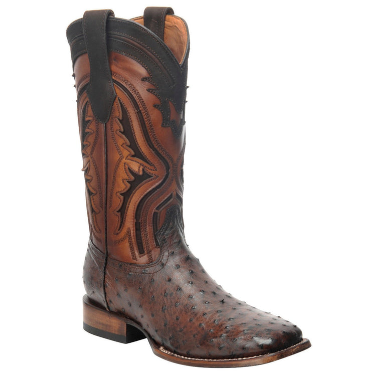 Cuadra Men's Everest Chocolate Ostrich Square Toe Boot