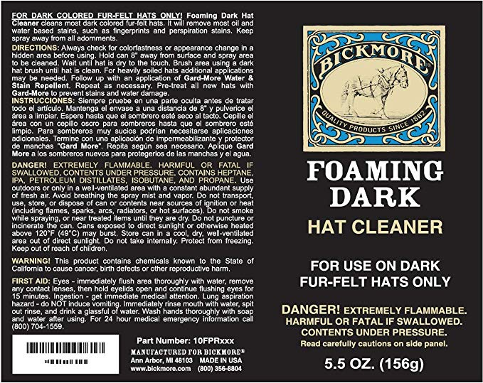 Bickmore Foaming Dark Hat Cleaner