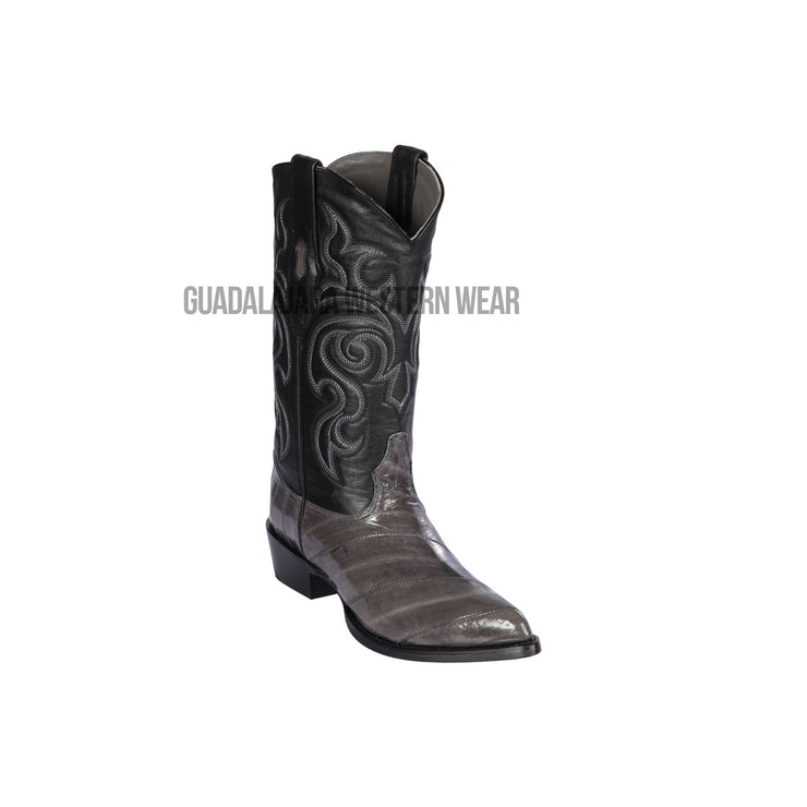 Los Altos Gray Eel J Toe Cowboy Boots