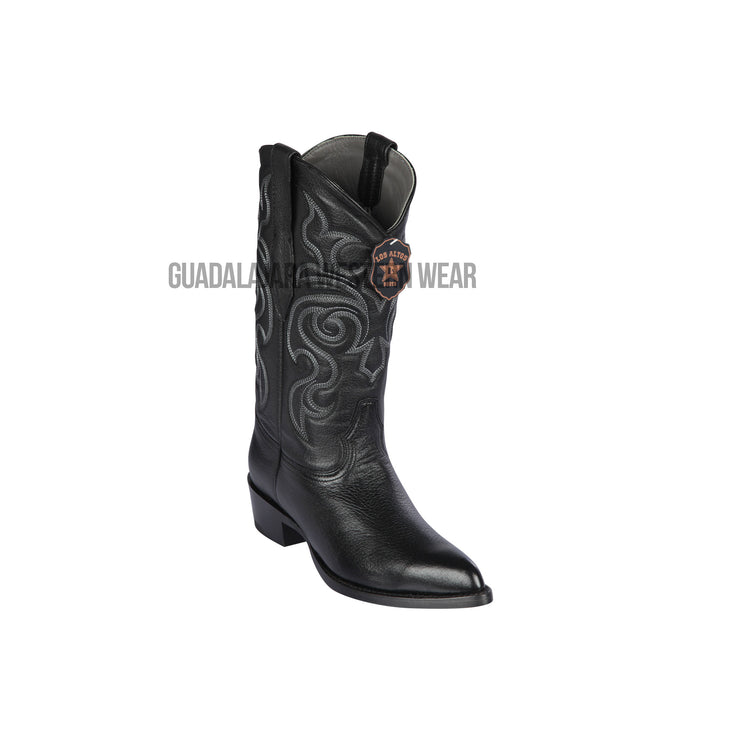 Los Altos Black Elk J Toe Cowboy Boots