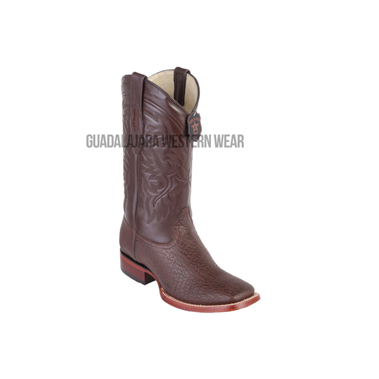 Los Altos Brown Shark Wide Square Toe Cowboy Boots