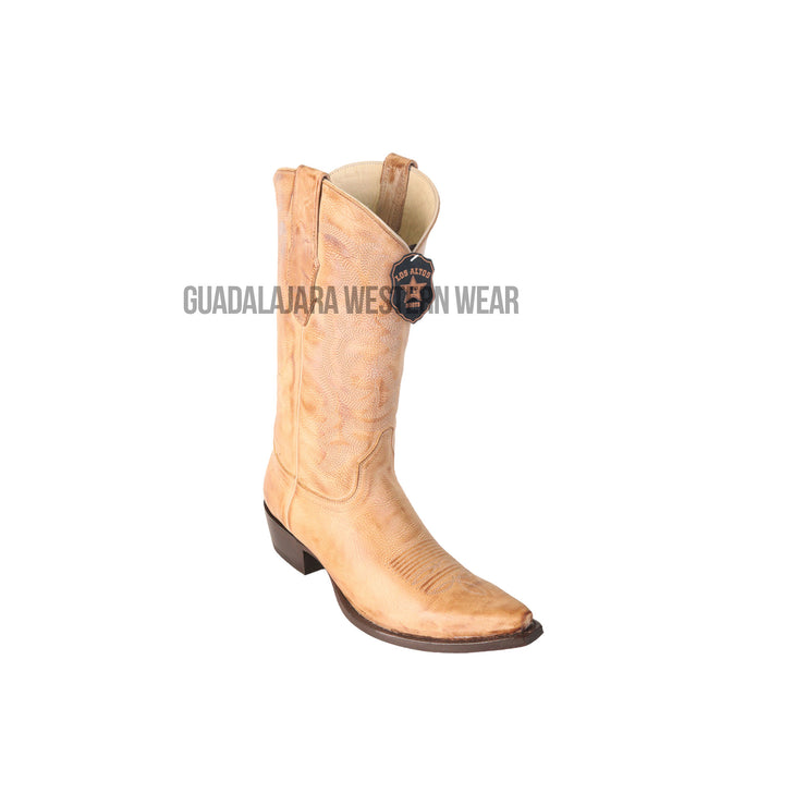 Los Altos Honey Vintage Snip Toe Cowboy Boots