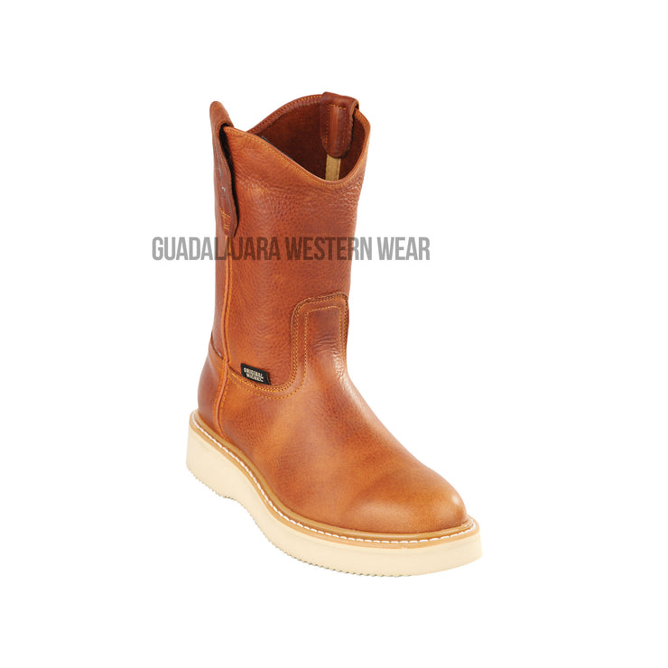 Original Michel Boots Men's Pull On Work Boot Honey Soft Toe