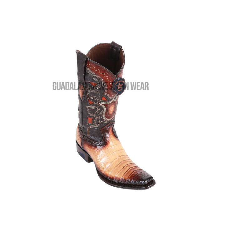 Los Altos Faded Oryx Caiman Belly European Square Toe Cowboy Boots