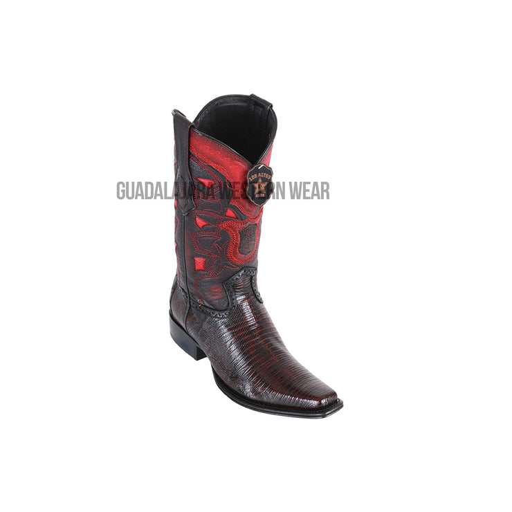 Los Altos Black Cherry Teju European Square Toe Cowboy Boots