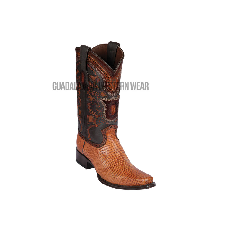 Los Altos Honey Teju European Square Toe Cowboy Boots